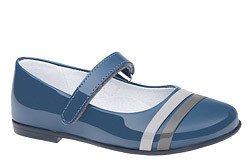 Balerinki niebieskie buty KORNECKI 4681 Lakierki
