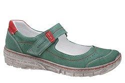 Baleriny KACPER 2-5466-723 Zielone na rzepy