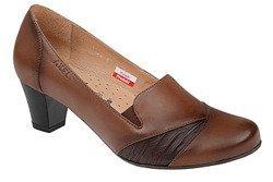 Czółenka na obcasie buty AXEL Comfort 1157 Brązowe