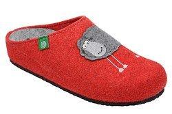 Kapcie Dr BRINKMANN 320485-4 Czerwone Pantofle domowe Ciapy