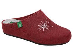 Kapcie Dr BRINKMANN 330002-41 Bordowe Pantofle domowe Ciapy
