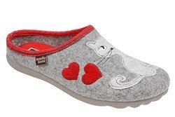 Kapcie MANITU 320515-91 Popielate Pantofle domowe Ciapy