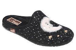 Kapcie Pantofle domowe Ciapy MANITU 320470-1 Czarne