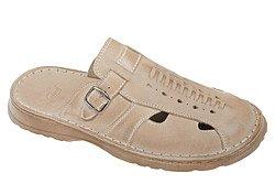 Klapki buty ŁUKBUT 965 Beżowe
