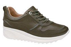 Komfortowe Sneakersy MANITU 850439-7 Oliwkowe