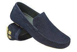Mokasyny wsuwane buty BADURA 3171 Granatowe