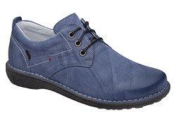 Półbuty KACPER 2-6506-485 Niebieskie sznurowane