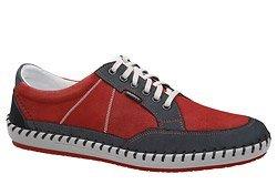 Półbuty KRISBUT 5337-2-9 Czerwone+Granat Sneakersy