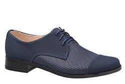 Półbuty komunijne wizytowe buty KMK 158 Granatowe AN-K