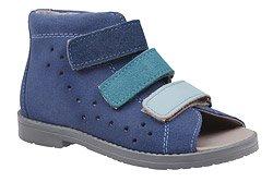Sandałki Profilaktyczne Ortopedyczne Buty DAWID 1041 Niebieskie GJNP