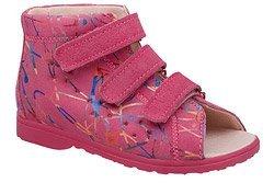 Sandałki Profilaktyczne Ortopedyczne Buty DAWID 1041 Różowe M1