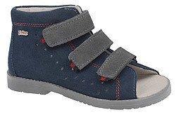 Sandałki Profilaktyczne Ortopedyczne Buty DAWID 1042 Granat G