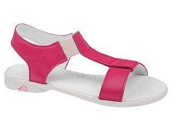 Sandałki dla dziewczynki KORNECKI 3737 Fuksja Różowe