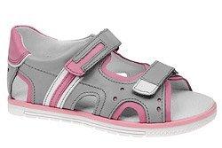 Sandałki dla dziewczynki KORNECKI 3747 Popielate Róż