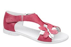 Sandałki dla dziewczynki KORNECKI 4527 Fuxia Różowe