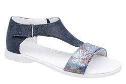 Sandałki dla dziewczynki KORNECKI 4750 Granatowe Mullti