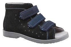 Sandały Profilaktyczne Ortopedyczne Buty DAWID 1043 Czarne CZN