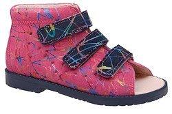 Sandały Profilaktyczne Ortopedyczne Buty DAWID 1043 Różowe M3