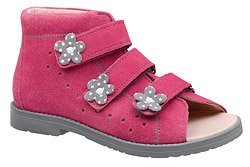 Sandały Profilaktyczne Ortopedyczne Buty DAWID 1043 Różowe RCSZ