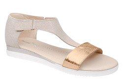 Sandały damskie VERONII 5208 Beżowe Złote