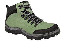 Trzewiki trekkingowe zimowe KORNECKI 3854 Zielone ocieplane