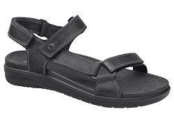 Włoskie Sandały IMAC 703220 Czarne na rzepy