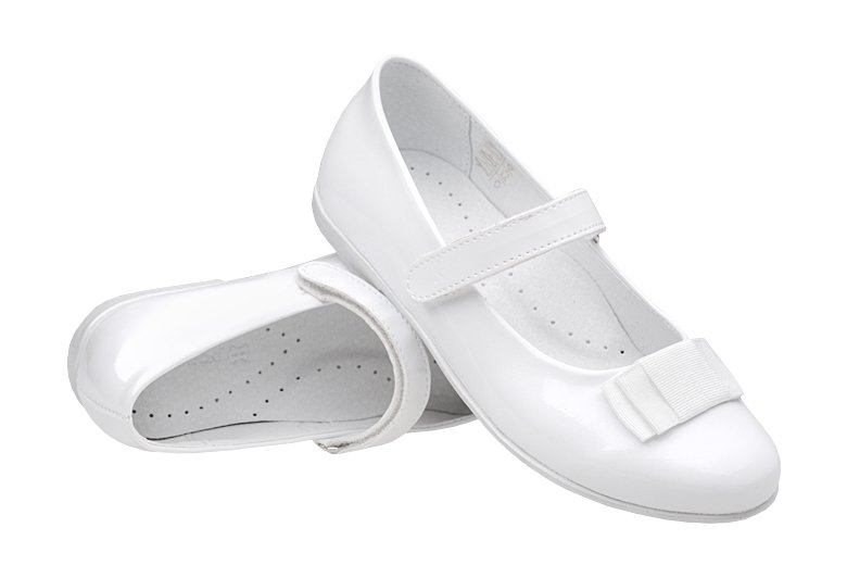 6ff924180a748f Balerinki buty komunijne KORNECKI 4246 Białe Lakierki - NeptunObuwie.pl