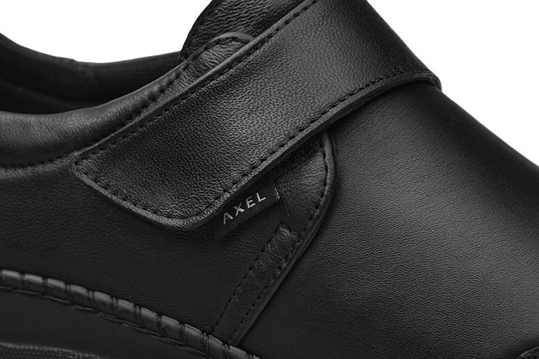 axel 1461 buty damskie axel zapinane na rzep skórzane czarne