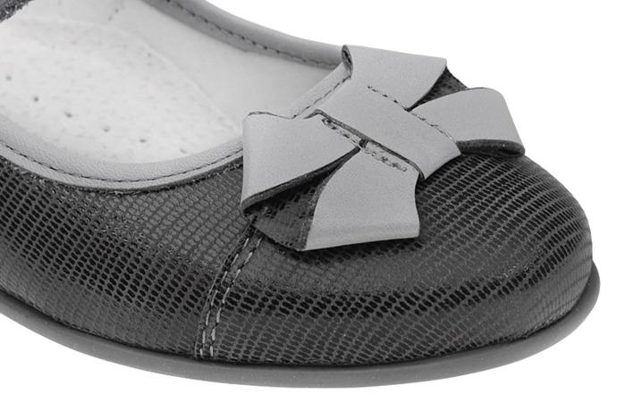 Balerinki na rzepy buty KORNECKI 3892 Popiel
