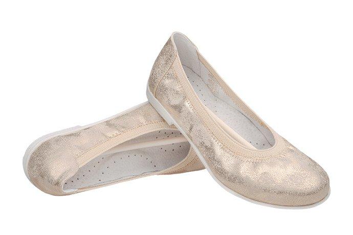 Baletki Balerinki KORNECKI 4905 Złote