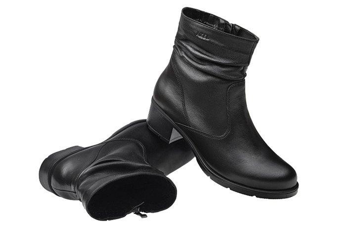 Botki AXEL Comfort 4287 Czarne H zimowe ocieplane