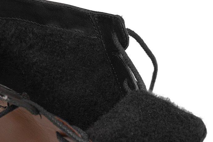 Botki Trzewiki BUT-S W028 Brązowe ocieplane