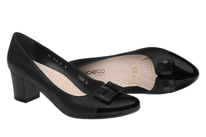 Czółenka BIOECO 2000-399+83 Arka Czarne