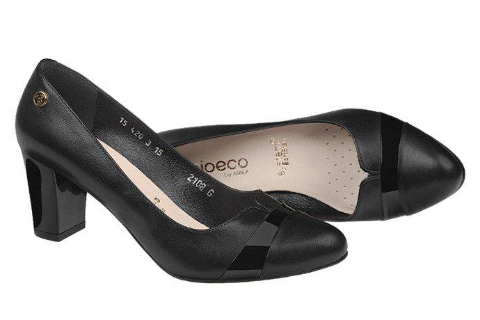 Czółenka BIOECO 2108-308+83 Arka Czarne