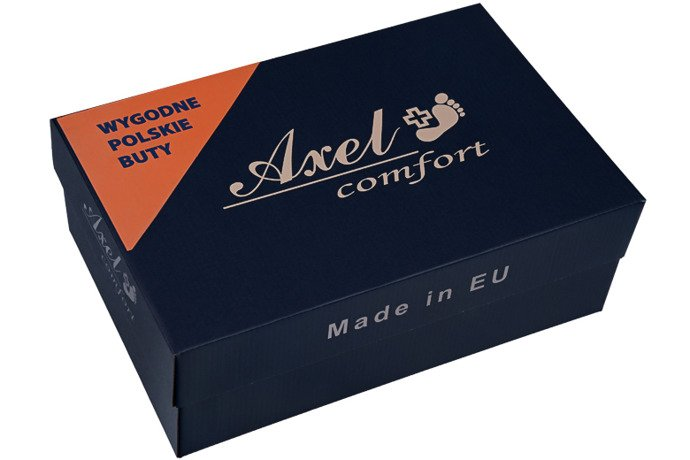 Czółenka na obcasie AXEL Comfort 1542 Granatowe