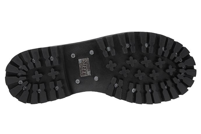 Glany STEEL 10-tki 106/O XXL Czarne 10-dziurek