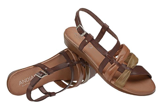 Hiszpańskie Sandały ANDIAMO 3241 Brązowe