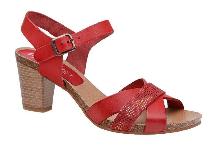 Hiszpańskie Sandały PILAR MONET 20101-1 Czerwone