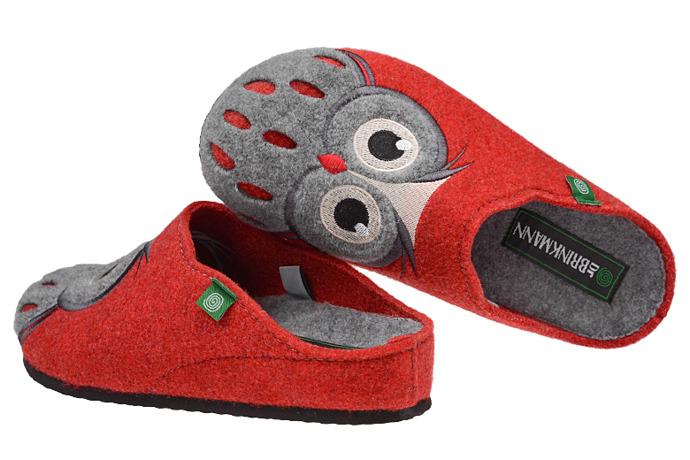 Kapcie Dr BRINKMANN 320455-4 Czerwone Pantofle domowe Ciapy