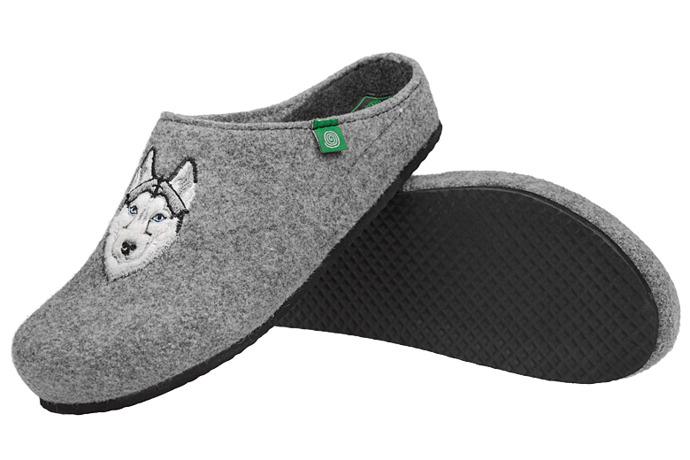 Kapcie Pantofle domowe Ciapy Dr Brinkmann 220224-9 Popielate