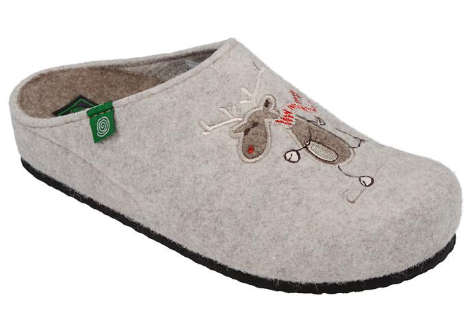 Kapcie Pantofle domowe Ciapy Dr Brinkmann 320453-8 Beżowe