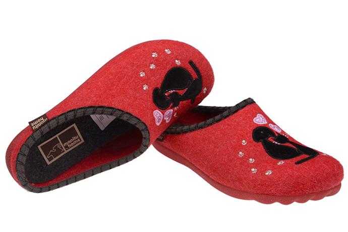Kapcie Pantofle domowe Ciapy MANITU 320462-4 Czerwone