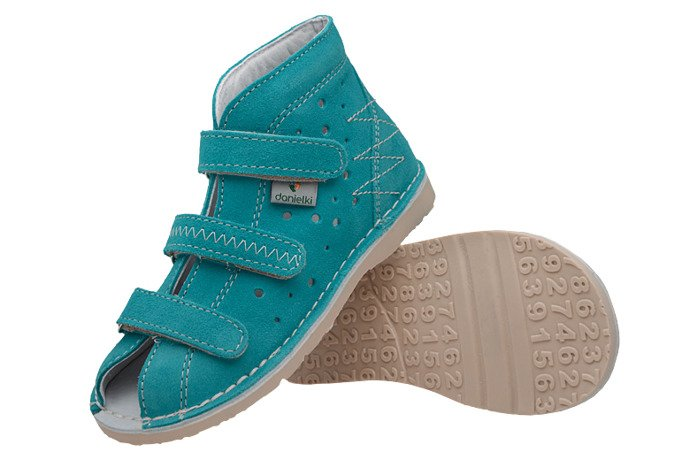 Kapcie profilaktyczne buty DANIELKI T105 T115 Turkus