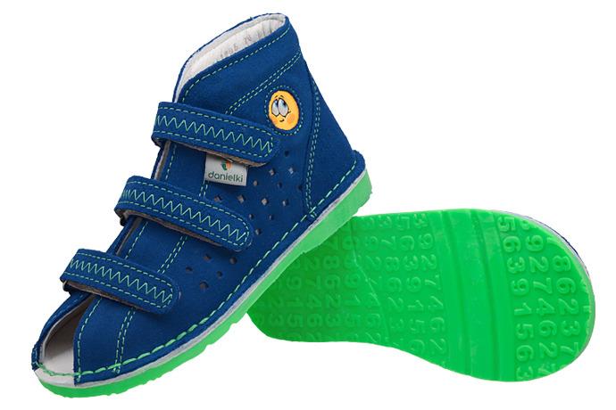 Kapcie profilaktyczne buty DANIELKI T105E T115E Blue Zielony