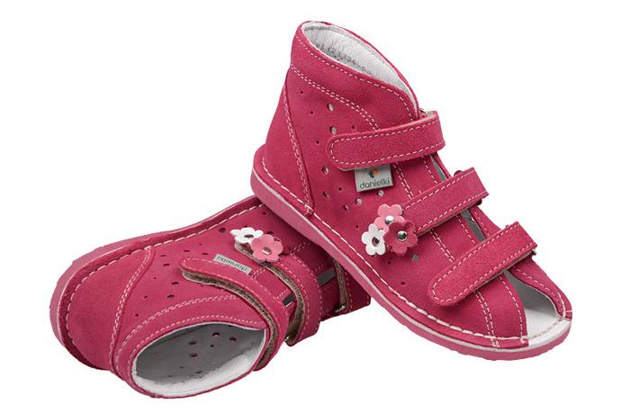 Kapcie profilaktyczne buty DANIELKI T125 T135 Fuksja