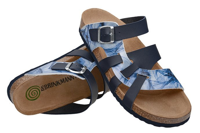 Klapki Dr Brinkmann 700004-05 Granatowe Multi