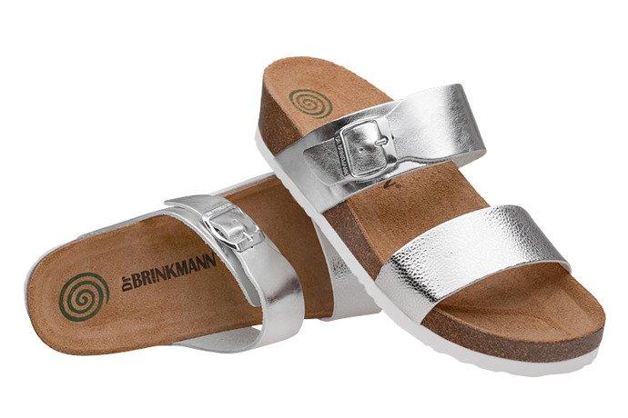 Klapki Dr Brinkmann 701144-92 Srebrne