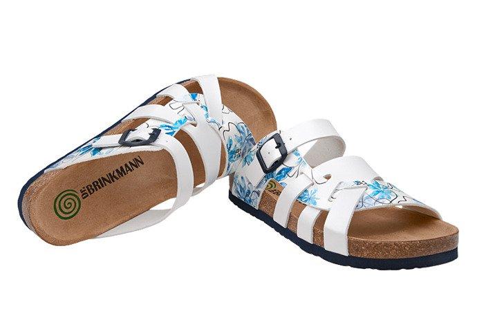 Klapki Dr Brinkmann 701154-3 Białe Niebieskie