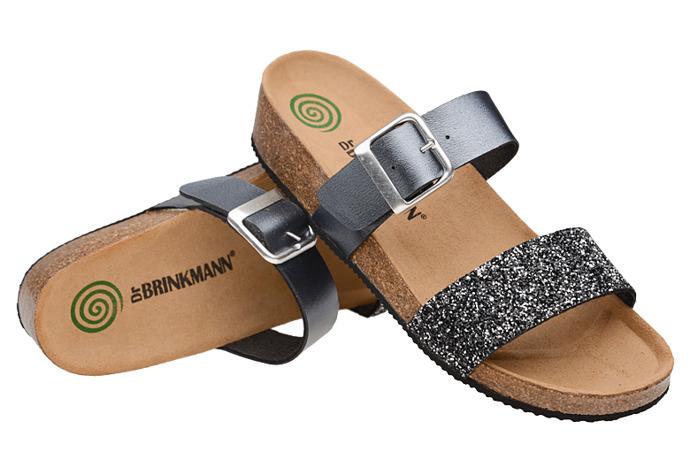 Klapki buty Dr Brinkmann 701036-92 Srebrne