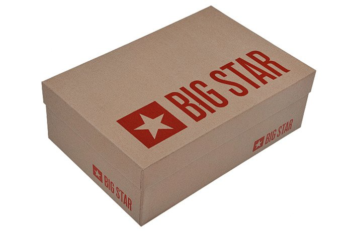 Kultowe Trampki BIG STAR T274029 Szare